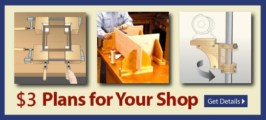 NEW Downloadable Woodworking Plans - Outfit and organize your shop for less with this shop-tested selection of $3.00 plans